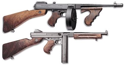 オートオードナンス (上)M1928&(下)トンプソンM1A1