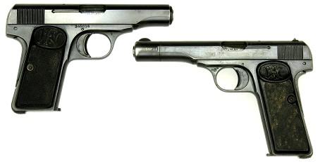 FN (上)M1910 32ACP (下)M1922 380ACP