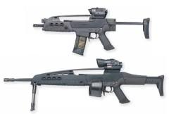上:PDW(COMPACT CARBINE)型、下:分隊支援火器型