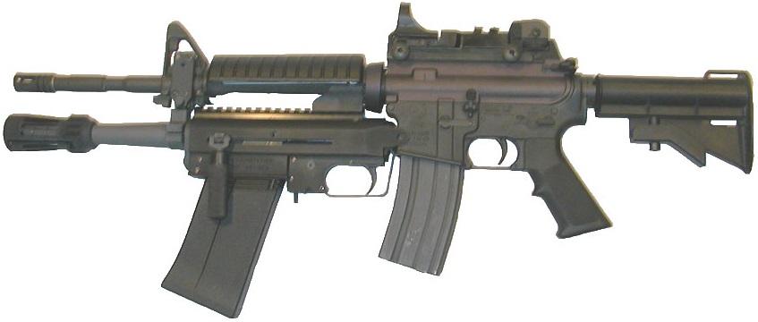 M4A1に装着されたXM26